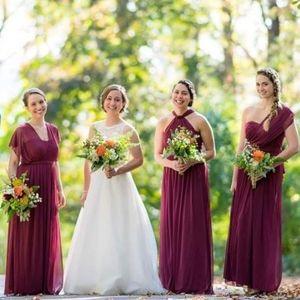 David's Bridal Convertible Bridesmaid Dress